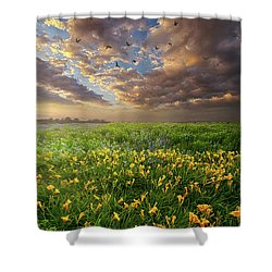 Dance On The West Wind Shower Curtain
