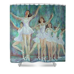 Dance Rehearsal Shower Curtain by Lyric Lucas