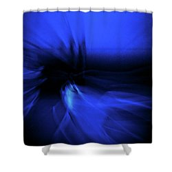 Dance Swirl In Blue Shower Curtain
