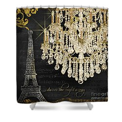 Shower Curtain featuring the mixed media Dance The Night Away 1 by Audrey Jeanne Roberts