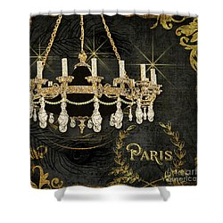 Shower Curtain featuring the painting Dance The Night Away 2  by Audrey Jeanne Roberts