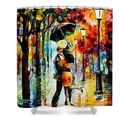 Dance Under The Rain Shower Curtain by Leonid Afremov