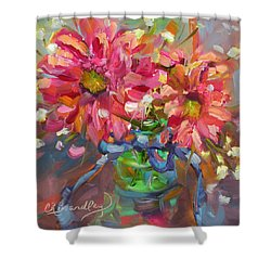 Dance With Daisies Shower Curtain