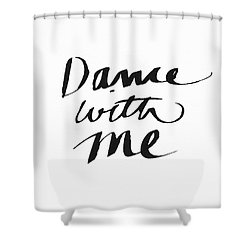 Dance With Me- Art By Linda Woods Shower Curtain