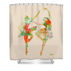 Dance With Me Shower Curtain by Nikki Smith
