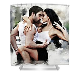 Dance With Passion Shower Curtain by Pennie  McCracken