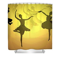 Dance With Us Into The Light Shower Curtain by Joyce Dickens