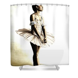 Dancer At Peace Shower Curtain by Richard Young