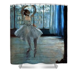Dancer In Front Of A Window Shower Curtain by Edgar Degas