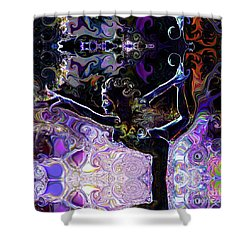 Dancer Pose Shower Curtain