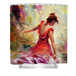 Shower Curtain featuring the painting Dancer by Steve Henderson