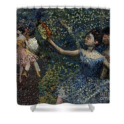 Dancer With A Tambourine Shower Curtain by Edgar Degas