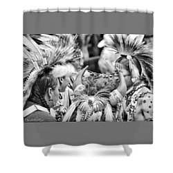 Dancers And Friends Shower Curtain by Clarice  Lakota