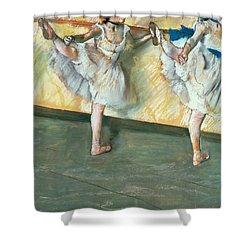 Dancers At The Bar Shower Curtain by Edgar Degas