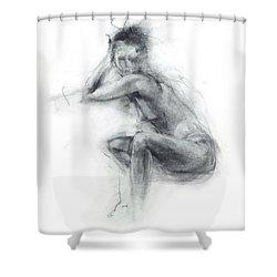 Dancer's Gaze Shower Curtain by Christopher Williams