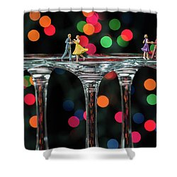 Dancers On Wine Glasses Shower Curtain