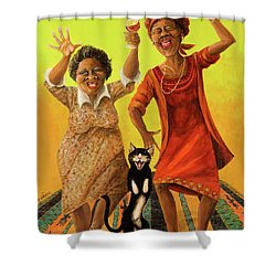 Dancin' Cause It's Tuesday Shower Curtain by Shelly Wilkerson