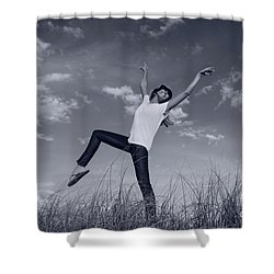 Dancing At The Beach Shower Curtain