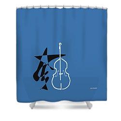 Dancing Bass In Blue Shower Curtain