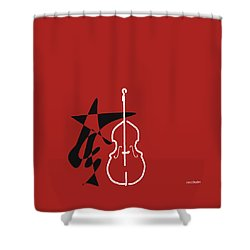 Dancing Bass In Orange Red Shower Curtain