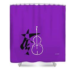 Dancing Bass In Purple Shower Curtain