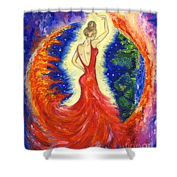 Dancing Between Two Worlds Shower Curtain
