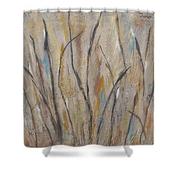 Dancing Cattails I Shower Curtain by Trish Toro