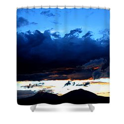 Shower Curtain featuring the photograph Dancing Clouds by Silke Brubaker