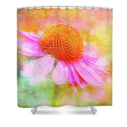 Dancing Coneflower Abstract Shower Curtain