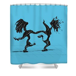 Dancing Couple 8 Shower Curtain