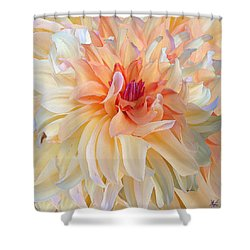 Dancing Dahlia Shower Curtain