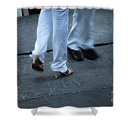 Dancing Feet At The Dominican Republic Son Party Number One Shower Curtain by Heather Kirk