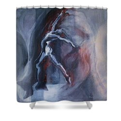 Dancing Figure Shower Curtain by Denise Fulmer