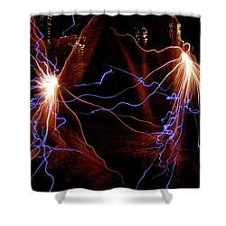 Dancing Fireworks #0707 Shower Curtain