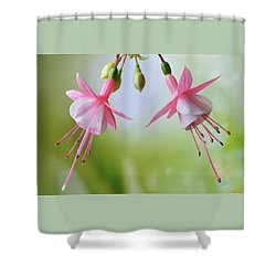 Dancing Fuchsia Shower Curtain