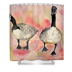Dancing Geese Shower Curtain