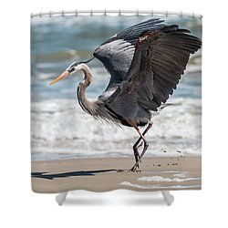 Dancing Heron #2/3 Shower Curtain by Patti Deters