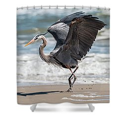 Dancing Heron Triptych Shower Curtain