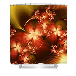 Dancing In Autumn Shower Curtain