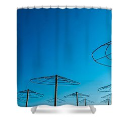 Dancing In Blue Shower Curtain