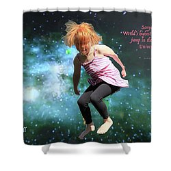 Dancing In Space Shower Curtain