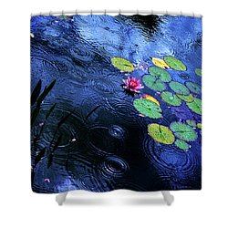 Dancing In The Rain Shower Curtain by John Poon