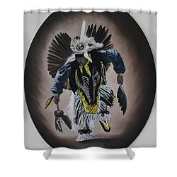 Shower Curtain featuring the painting Dancing In The Spirit by Michael  TMAD Finney