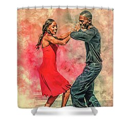 Dancing In The Street Shower Curtain