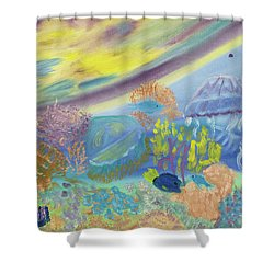 Dancing Jellies Shower Curtain
