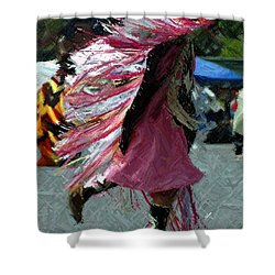 Dancing Shower Curtain by Kathleen Struckle