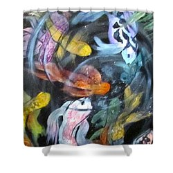 Dancing Koi Shower Curtain