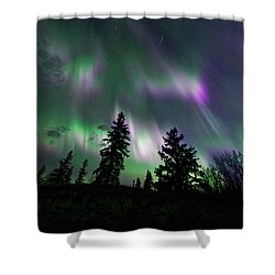Dancing Lights Shower Curtain by Dan Jurak