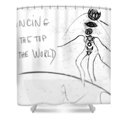 Dancing On The Top Of The World Shower Curtain