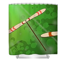 Dancing On The Wind Shower Curtain